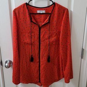 2/$25 Libby Edelman bee blouse